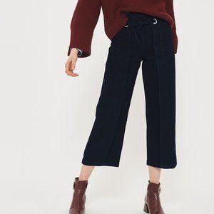 Topshop Waist Tie Cropped Wide Leg Jeans